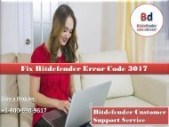 Fix Bitdefender Error Code 3017