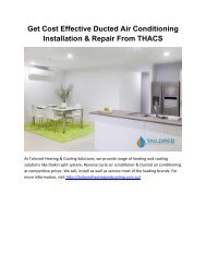 Get Cost Effective Ducted Air Conditioning Installation & Repair From THACS