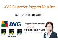 Avg Customer Support Number 1-888-583-4008 - Avg Tech Support