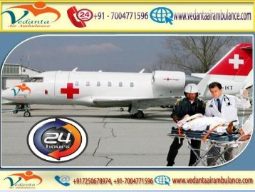 Vedanta Air Ambulance from Pune to Delhi with MD Doctor
