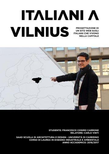 """Thesis """"Italiani A Vilnius"""""""