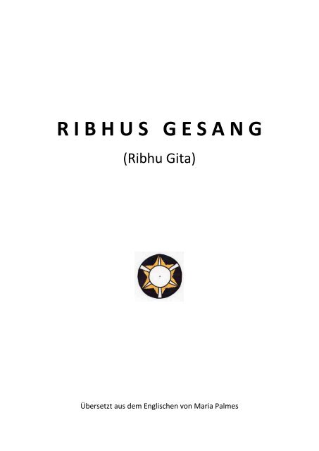 Ribhus Gesang - Ribhu Gita_deutsch von  Maria Palmes