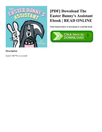 [PDF] Download The Easter Bunny's Assistant Ebook   READ ONLINE