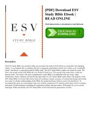 [PDF] Download ESV Study Bible Ebook   READ ONLINE