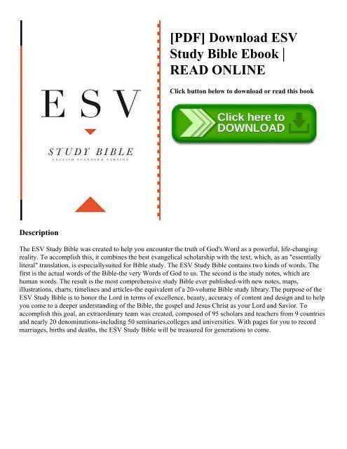 Esv Bible In Pdf Format