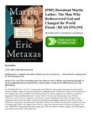 [PDF] Download Martin Luther: The Man Who Rediscovered God and Changed the World Ebook   READ ONLINE