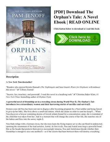 [PDF] Download The Orphan's Tale: A Novel Ebook | READ ONLINE