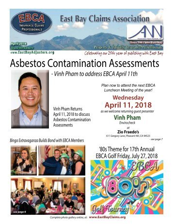East Bay Claims Association News Network - April 2018