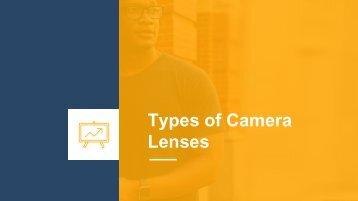 Types of Camera Lenses