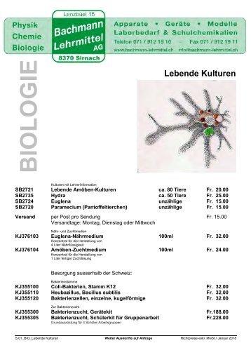 Biologie Prospekte | Biologie | Bachmann Lehrmittel