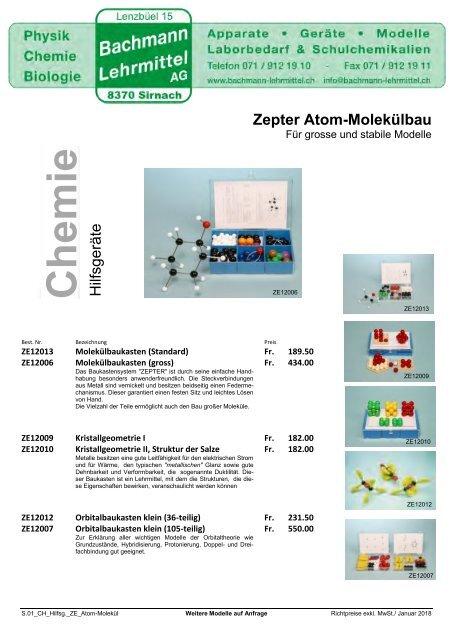 Chemie Hilfsgeräte | Chemie | Bachmann Lehrmittel