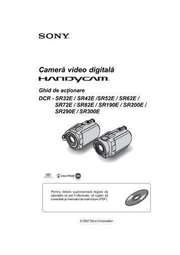 Sony DCR-SR42E - DCR-SR42E Mode d'emploi Roumain