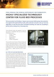 highly sPecialiZed technology center For Fluid ... - Vision Engineers