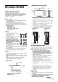 Sony KDL-26U2530 - KDL-26U2530 Mode d'emploi Hongrois - Page 7