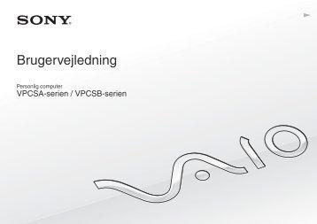 Sony VPCSA2Z9R - VPCSA2Z9R Mode d'emploi Danois