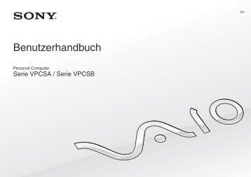 Sony VPCSA2Z9R - VPCSA2Z9R Mode d'emploi Allemand