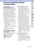 Sony DSC-TX9 - DSC-TX9 Istruzioni per l'uso Finlandese - Page 3
