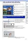 Sony DSC-TX9 - DSC-TX9 Istruzioni per l'uso Ceco - Page 2