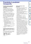 Sony DSC-TX9 - DSC-TX9 Istruzioni per l'uso Ceco - Page 3