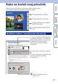 Sony DSC-TX9 - DSC-TX9 Istruzioni per l'uso Croato - Page 2