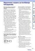 Sony DSC-TX9 - DSC-TX9 Istruzioni per l'uso Croato - Page 3