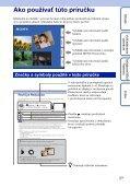 Sony DSC-TX9 - DSC-TX9 Istruzioni per l'uso Slovacco - Page 2