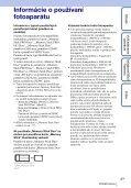 Sony DSC-TX9 - DSC-TX9 Istruzioni per l'uso Slovacco - Page 3