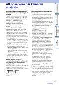Sony DSC-TX9 - DSC-TX9 Istruzioni per l'uso Svedese - Page 3