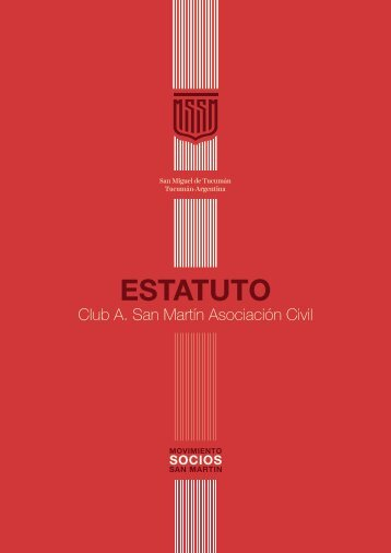 ESTATUTO Club A. San Martín Asociación Civil