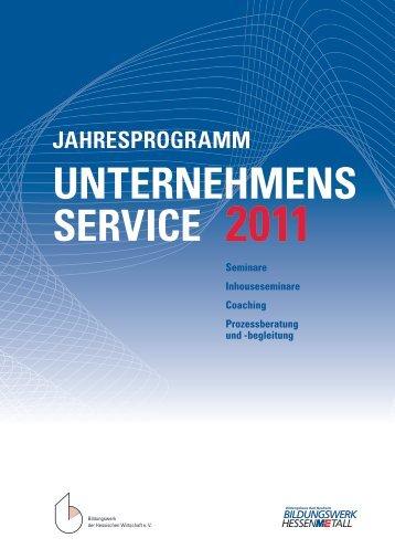 Seminarprogramm 2011 - Bildungshaus Bad Nauheim
