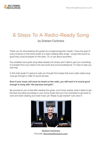 6 Steps To A Radio-Ready Song