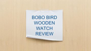Bobo Bird Wooden Watch Review