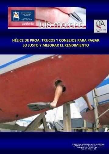 HÉLICE DE PROA; TRUCOS Y CONSEJOS PARA PAGAR LO JUSTO Y MEJORAR EL RENDIMIENTO - Fondear.org
