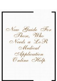 New Guide for Those, Who Needs a LoR Medical Application Online Help