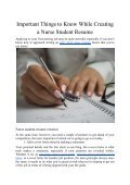 Important Things to Know While Creating a Nurse Student Resume - Page 2