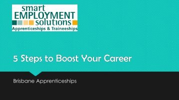 5 Steps to Boost Your Career