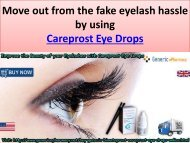 Buy Careprost Eye Drops Online to treat Hypotrichosis at GenericEPharamcy in USA UK