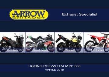 Arrow - listino prezzi Italia n 036 - Aprile 2018