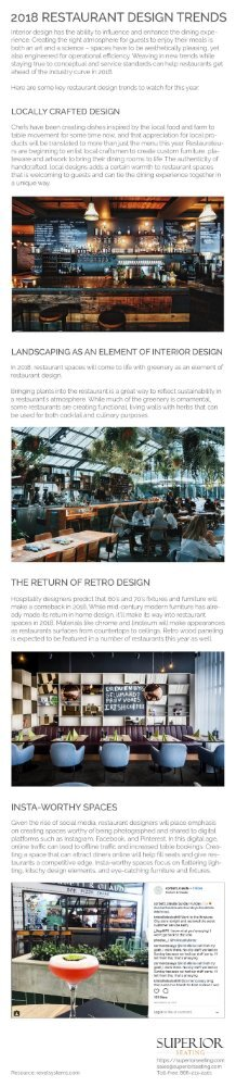 2018 Restaurant Design Trends