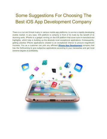 How To Choose the right iOS App Development Company | FineSoft Technologies