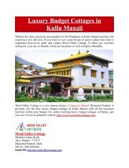 Luxury Budget Cottages in Kullu Manali