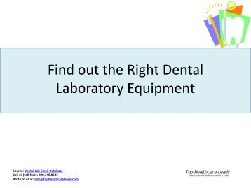 Dental Laboratories Email Addresses - Top Healthcare Leads