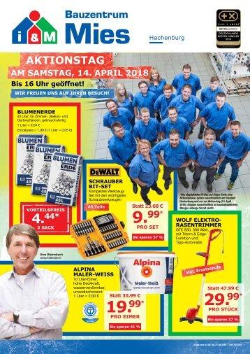 Sonderbeilage i&M Bauzentrum Mies & MIES SERVICE PARTNER Hachenburg KW15/2018