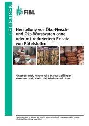 """Leitfaden """"Herstellung von Öko-Fleisch- und Öko ... - Oekolandbau.de"""