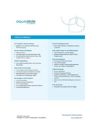 Vorteile_Aquaslide Kühlschmiermittel DB