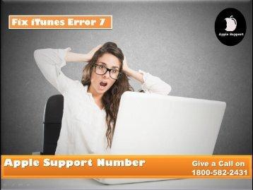 Fix iTunes Error 7