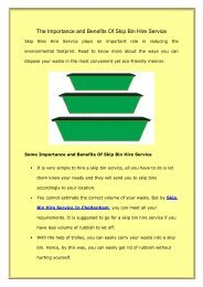 The Importance and Benefits Of Skip Bin Hire Service