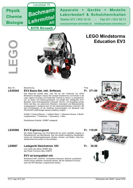 LEGO Mindstorms Education EV3 | LEGO | Bachmann Lehrmittel
