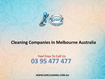 Cleaning Companies In Melbourne Australia
