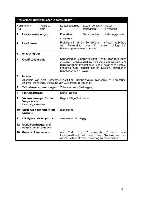 1 Anlage 4 zum Protokoll der Sitzung 6/2012 des FBR Biologie am ...